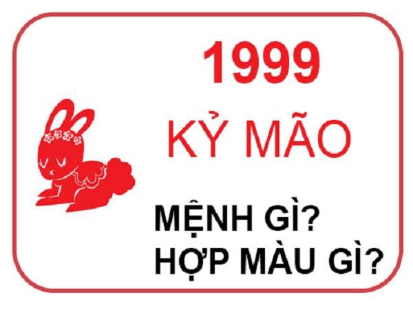 Sinh năm 1999 mệnh gì? tuổi gì? hợp màu nào?