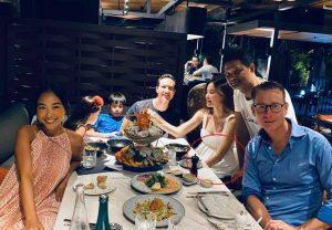 Hà Hồ Kim Lý đi ăn cùng gia đình Đoan Trang