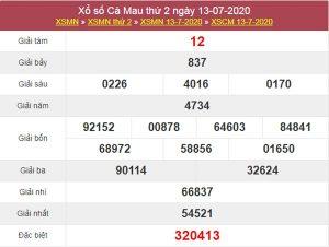 Soi cầu XSCM 20/7/2020 chốt lô số đẹp Cà Mau thứ 2