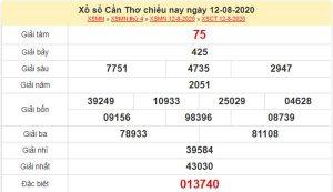 Dự đoán XSCT 19/8/2020 chốt lô VIP Cần Thơ thứ 4