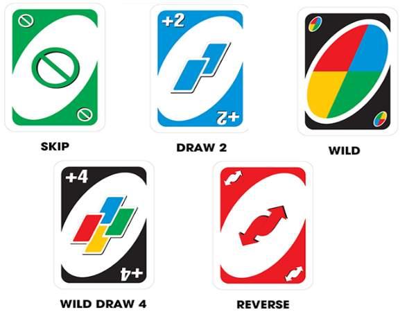 Những lá bài chức năng trong Uno
