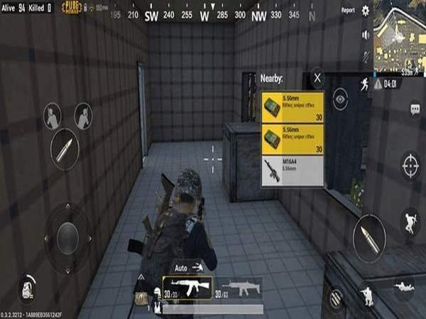 Chọn vũ khí trong game Bubg Mobile