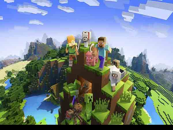 Game sinh tồn xây dựng mobile - Minecraft