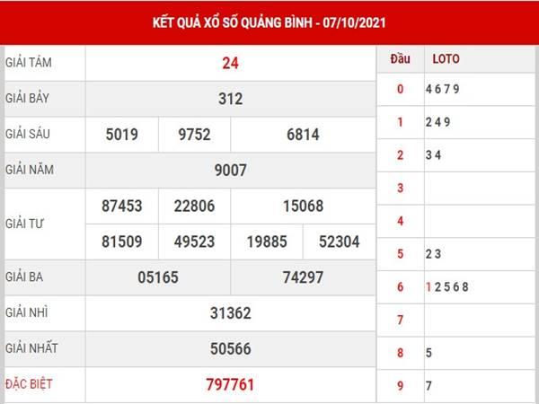 Soi cầu xổ số Quảng Bình 14/10/2021 - Thống kê lô thứ 5